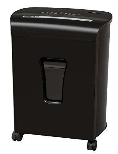 Sentinel FM121P-BLK 12-Sheet High Security Micro Cut Paper Credit Card Shredder with Waste Bin Shredder