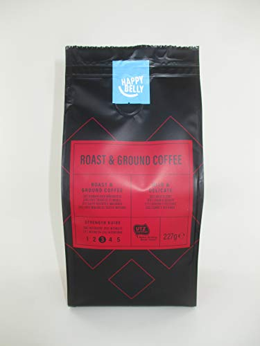 Amazon-Marke: Happy Belly Gemahlener Röstkaffee - Roast & Ground Coffee 1,36 kg (6 x 227g)