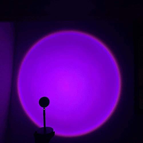 Luz visual romántica LED, luz nocturna Puesta de sol Proyección de la luz de proyección, lámpara de dormitorio con 90 ° Luz de noche de la puesta de sol giratoria para la fiesta de la fiesta del hogar