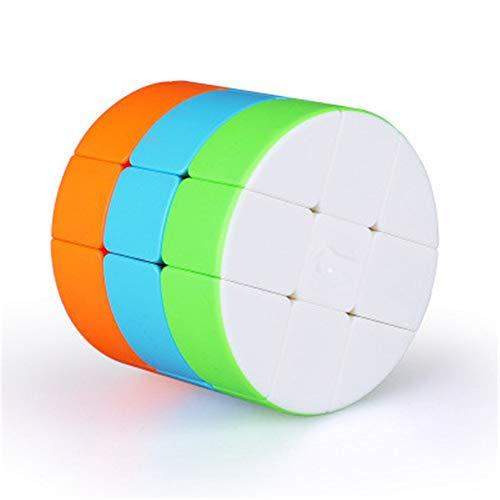 WANDE Cubo De La Velocidad Cilíndrica Cubo De Rubik, Suavizar Los Puzzles Sin Sensación Esmerilado, Ajustable De Tercer Orden Elástica Cilíndrica Cubo De Rubik