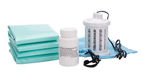 Verbrauchsset / Nachfüllset (Spule / Elektrode, Aktivierungssalz und Schoner) für Elektrolysefußbad Hydrosana
