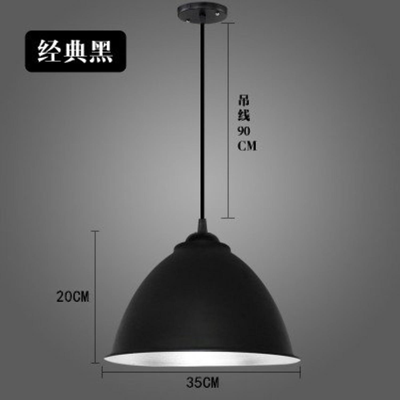 Luckyfree Kreative Modern Fashion Anhnger Leuchten Deckenleuchte Kronleuchter Schlafzimmer Wohnzimmer Küche, schwarze Lampe 35 Cm Durchmesser + 15 W Lichtquelle Led