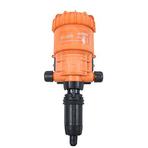 MaquiGra Dispositivo de Dosificador impulsado por Agua Bomba de Dosificación Dispensador de inyectorpara Fertilizante Quimicos liquidos Abonos para Cultivo Lavado Industrial Jardinería 0.2%-2% 3 4