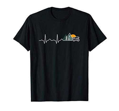 Herzschlag Wohnmobil Puls Camper Geschenk Frequenz T-Shirt