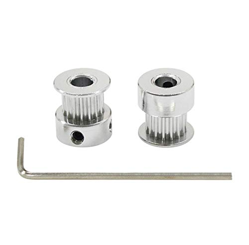 X-BAOFU, 10pcs 3D Printer Parts Accessory GT2 16teeth 16 Teeth Bore 5mm Timing Alumium Pulley Fit For GT2-6mm Open Timing Belt (Size : 5mm)