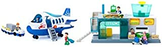 Little Learner 24-piece Airport Terminal Playset Realistic Airport Scene with
