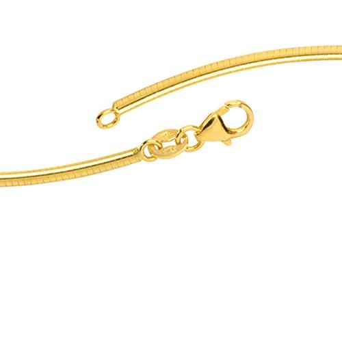 JOBO Halsreif 585 Gold Gelbgold 2 mm 42 cm