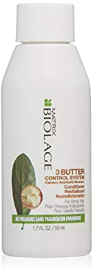 BIOLAGE 3Butter Control System Conditioner   Nourishes & Detangles To Define Curly Hair   For Unruly, Dry Hair