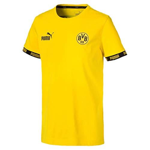 PUMA Kinder T-Shirt BVB FtblCulture, Cyber Yellow, 152, 755795