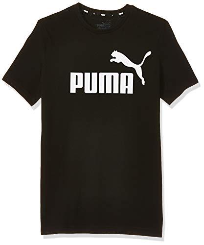 PUMA Ess Logo Tee B, Maglietta Unisex – Bambini, Nero (Cotton Black), 164