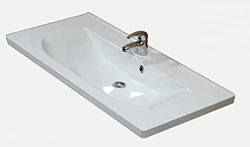 PELIPAL Trentino 1070/1100 Mineralmarmor Waschtisch/Weiß / 110 x 3,5 x 51 cm