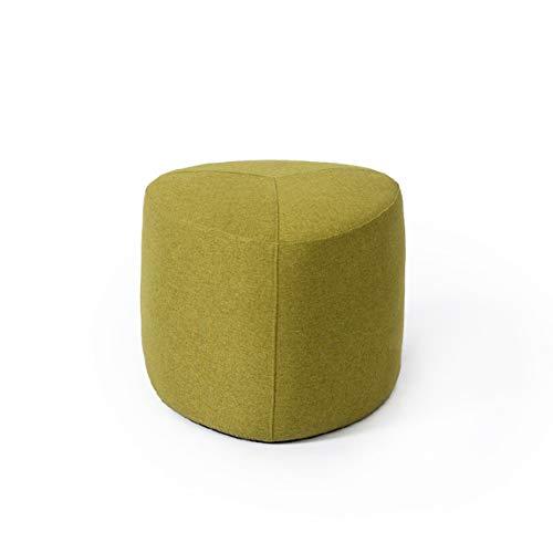 XUQIANG Einfache Domäne Hocker kreative Faule Sofa Bank Couchtisch Hocker Bank Stoff Block Moderne Fußhocker Haushalt Hocker 45x38 cm Kleiner Hocker (Color : Green)