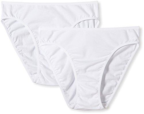 Nur Die Damen Slip 822255/Mini 2er Pack, Gr. 40/42, weiß (weiß 030)