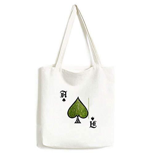Groene pompoen schil Macro foto patronen handtas Craft Poker Spade wasbare tas