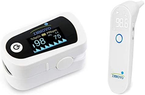 Innovo iP900BP Fingertip Pulse Oximeter and iE100A Ear Digital Thermometer Bundle product image