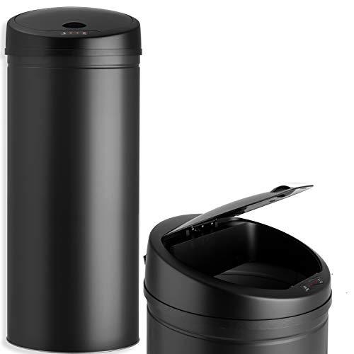 KESSER Sensor Mülleimer ✓ Automatik ✓ Abfalleimer ✓ Abfall | Edelstahl | 56 Liter SCHWARZ