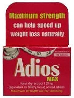 Amazon Com Adios Max Maximum Strength Weight Loss Tablets 100