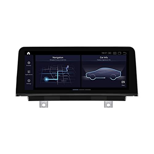 Radio estéreo de coche para BMW F30 F20 2012-2017 Android Auto Head Unit IPS Pantalla táctil Navegación GPS Soporta Espejo Link Wifi Control Volante Bluetooth Receptor FM, 8 Core 4G+WiFi: 4+64GB