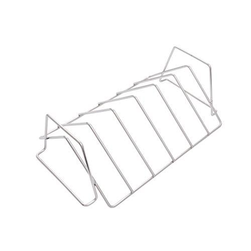 Char-Broil 1944364R04 Grill Plus Rib & Roast Rack, 4.5x13.75x4.39, Silver