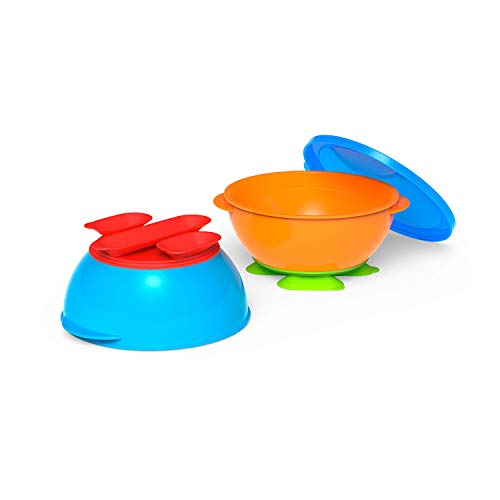 First Essentials by NUK Tri-Suction Bowls, Assorted Colors, 2-Pack