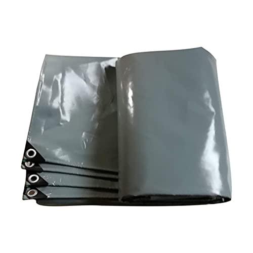 AWSAD Espesar Plegable Lona Alquitranada Gris Cubierta A Prueba de Lluvia Lonas Proteccion Solar A Prueba de Polvo con Ojal Multiusos, 25 Tamaños (Color : Gray, Size : 2x3m)