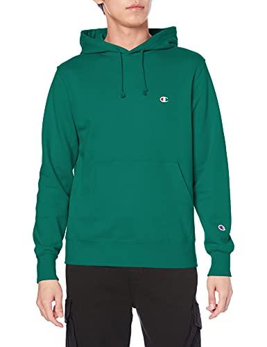 [チャンピオン] パーカー トレーナー 裏毛 長袖 綿100% 定番 ワンポイント刺繍フーデッドスウェットシャツ C3-Q101 メンズ モスグリーン XL