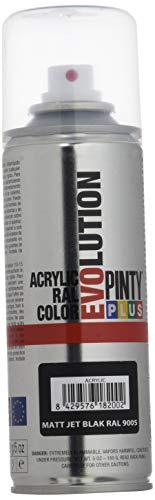 NVS 249 Pintura spray Acrílica Mate PINTYPLUS EVOLUTION 270cc Matt jet black Ral 9005, Único, Estándar