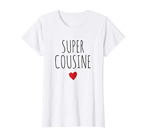 Super Cousine Cœur Meilleure Cousin du Monde Cadeau T-Shirt