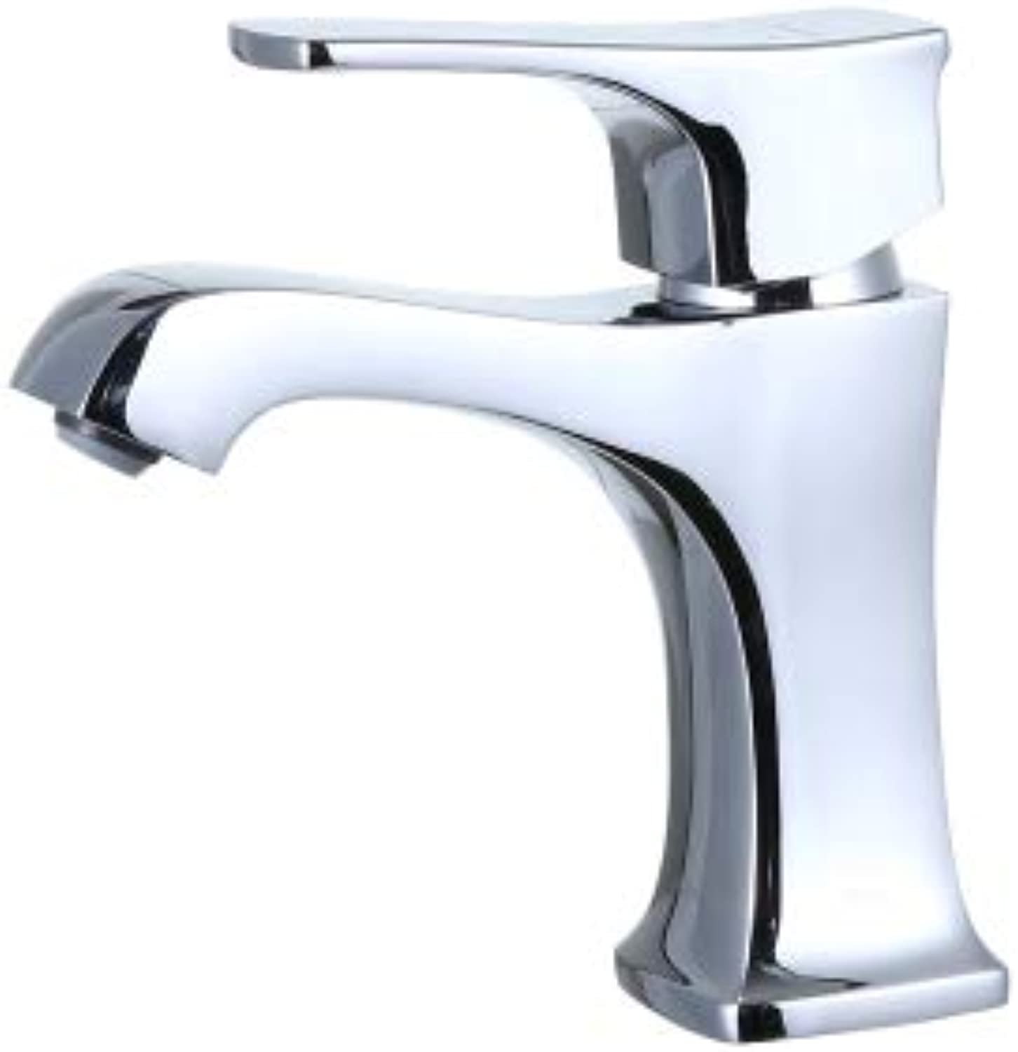 Faucet Copper Square Washbasin Basin Hot and Cold Water Faucet Sink Bathroom Cabinet Faucet