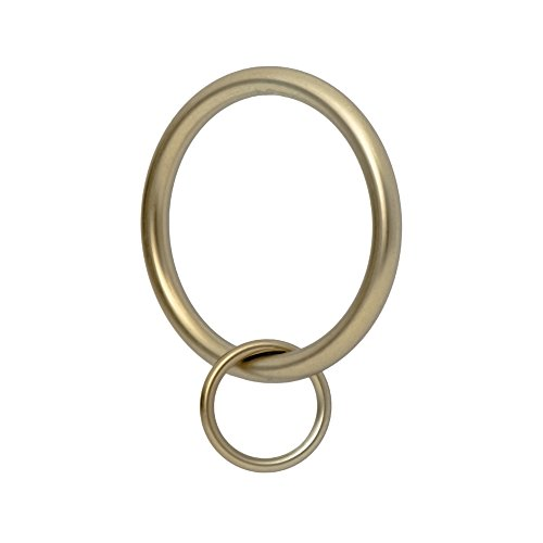 """Ivilon Drapery Eyelet Curtain Rings - 1.7"""" Ring Loop for Hook Pins, Set of 14 - Warm Gold"""