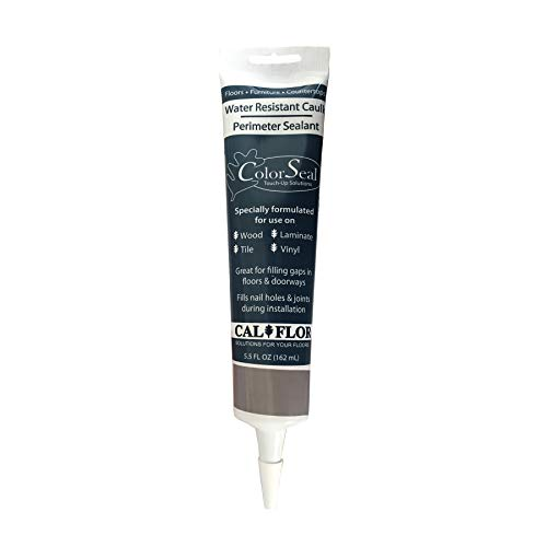 CalFlor CA49601CF, Gray ColorSeal Flexible Sealant for use on Wood, Laminate, Tile, Stone, Vinyl and Any Hard Surface, 5.5 oz, 5 Fl Oz