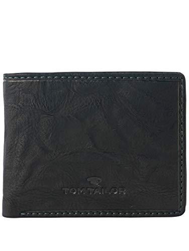 TOM TAILOR Herren Taschen & Geldbörsen aufklappbare Geldbörse aus Leder schwarz/Black,OneSize