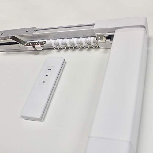 ABALON Motorisierte Vorhangschiene mit Fernbedienung, 1-6 Meter, Aluminium; Weiß, elektrische vorhänge, elektrische vorhangschiene.