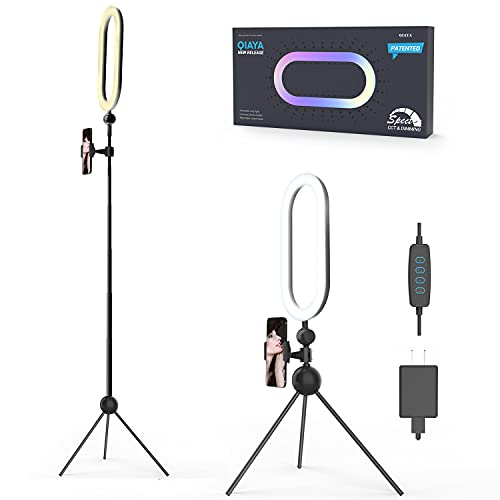 """Ring Light with Tripod Stand and Phone Holder 14"""" Selfie Lights for TikTok Phone Videos LED Circle Halo Lighting for Desk Makeup Video Photography Studio Vlog Recording"""