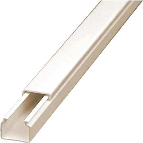 CabCom PVC Kabelkanal Kabelleiste Kabelschacht Brüstungskanal zur Montage an Wand oder Decke diverse Größen und Farben 6 Meter (3x2 Meter) 15 x 10 mm weiß selbstklebend