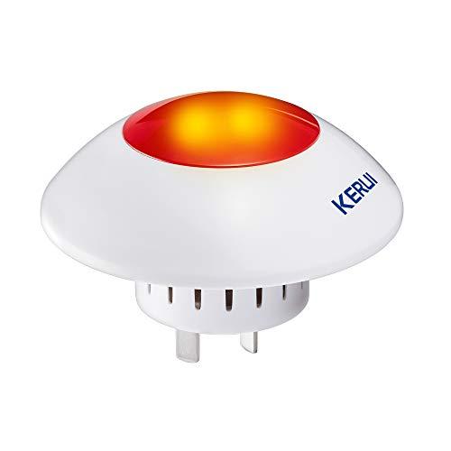 KERUI J009 Sistema de Alarma Antirrobo de Sirena Intermitente Fuerte para Interiores Inalámbrica-Sirena Exterior Inalámbrica para Seguridad en el Hogar 110dB