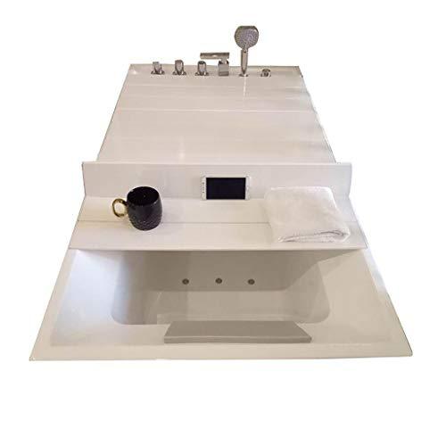 Badewannenabdeckung Anti-Staub Falten Staubplatte Badewanne Isolierabdeckung PVC weiß (größe : 135 * 75 * 0.7cm)