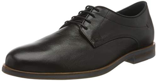 Geox U Bayle B, Zapatos de Cordones Derby para Hombre, Negro (Black C9999), 43 EU