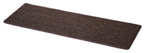 Dean Non-Slip Tape Free Pet Friendly DIY Carpet Stair Treads/Rugs 27' x 9' (15) - Color: Brown