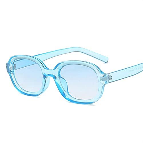 Gafas De Sol Hombre Mujeres Ciclismo Gafas De Sol para Mujer Gafas De Sol Hombre Vintage Negro Amarillo Anteojos-Azul