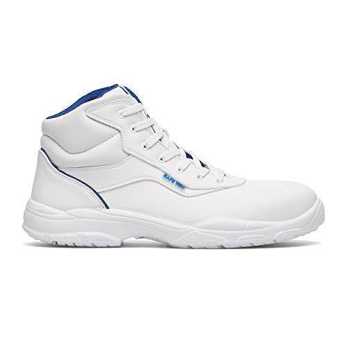 Exena - Scarpe antinfortunistiche S2, con cappuccio protettivo per alimenti, Gastro, colore: bianco perla, Bianco (bianco), 46 EU