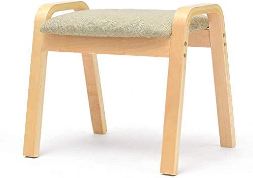 MMWYC Tabouret en Bois Massif Banc Adulte Petit Mode Tissu Canapé Famille Table Basse