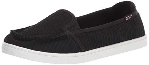 Roxy Women's Minnow Slip On Sneaker, New Black, 8.5