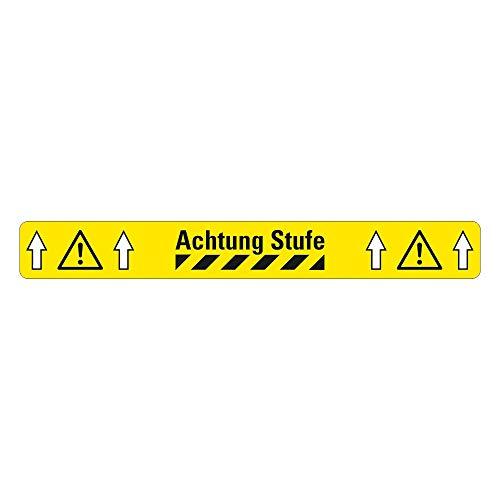 Antirutsch Warnmarkierung Sicherheitsmarkierung, gelb, selbstklebend, rutschsichere Bodenmarkierung R11 (Achtung Stufe 75 mm x 600 mm)