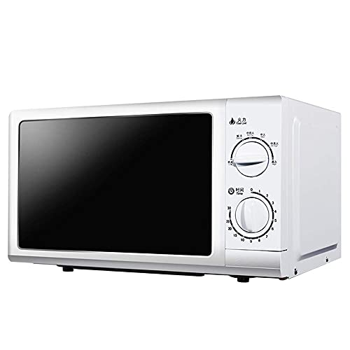Horno de microondas Mecánico para el hogar, Capacidad de 20 l, Plato Giratorio, Ajuste de 5 velocidades, Temporizador, Blanco