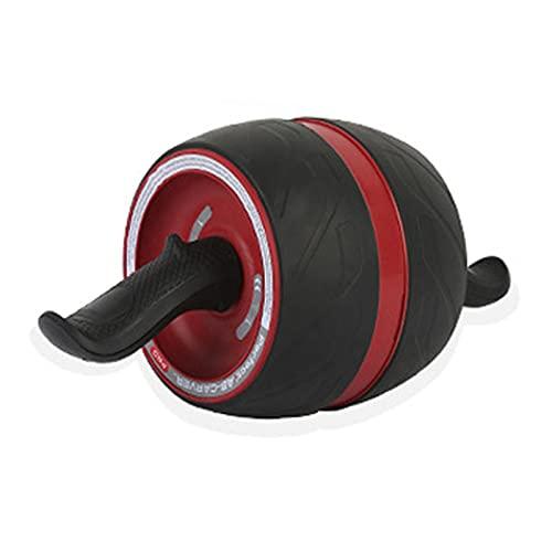 Ab Roller Wheel, Rueda Abdominales Fitness AB Roller Rodillo Rueda Rebote Automático con Rodillera Para Equipo De Ejercicio AB Inferior Entrenamiento Básico De Gimnasio En Casa Mujeres Y Hombres,Rojo
