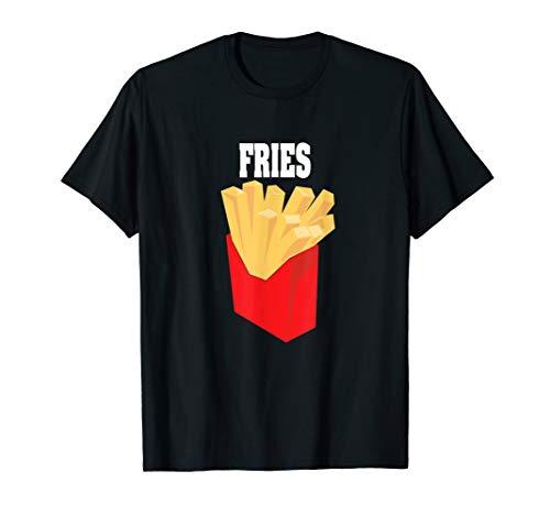 Pommes Frites Halloween Kostüm T-Shirt Fries