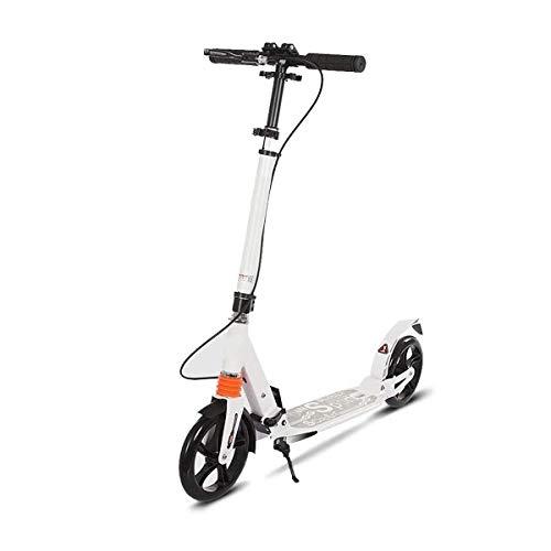 Patinete Scooter Niño 2 Ruedas Patinetes Plegable Ajustable Altura City Roller Freestyle para Niño y Niña de 3 a 14 Años Bebe Juguetes y Regalos, H015ZJ (Color : White)