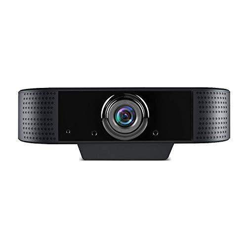 Webcam 1080p Full HD con Microfono, USB Videocamera Webcam per pc Fisso, per Teleconferenza, Videochiamate, Studio, Conferenza, Registrazione, Gioca e Lavoro, Compatibile con Windows Mac e Android