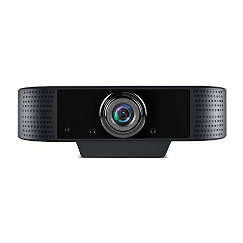 Webcam 1080p Full HD con Microfono, USB Videocamera Webcam per pc Fisso, per Teleconferenza, Videochiamate, Studio, Conferenza, Registrazione, Gioca e Lavoro, Compatibile con Windows Mac e Android